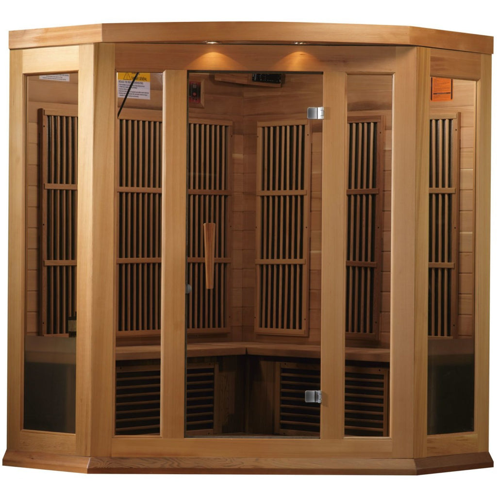 MX-K356-01 Low EMF FAR Infrared 3-Person Corner Home Sauna