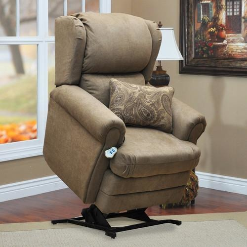 Med-Lift 5400 Series Wall-a -Way Reclining Lift Chair with Coordinating Paisley Print and Lumbar Pillow
