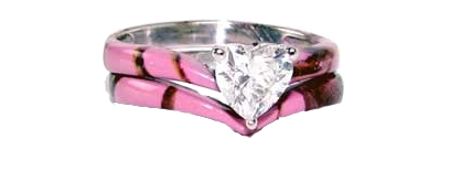 sweetheart camo wedding ring set - Pink Camo Wedding Ring Sets