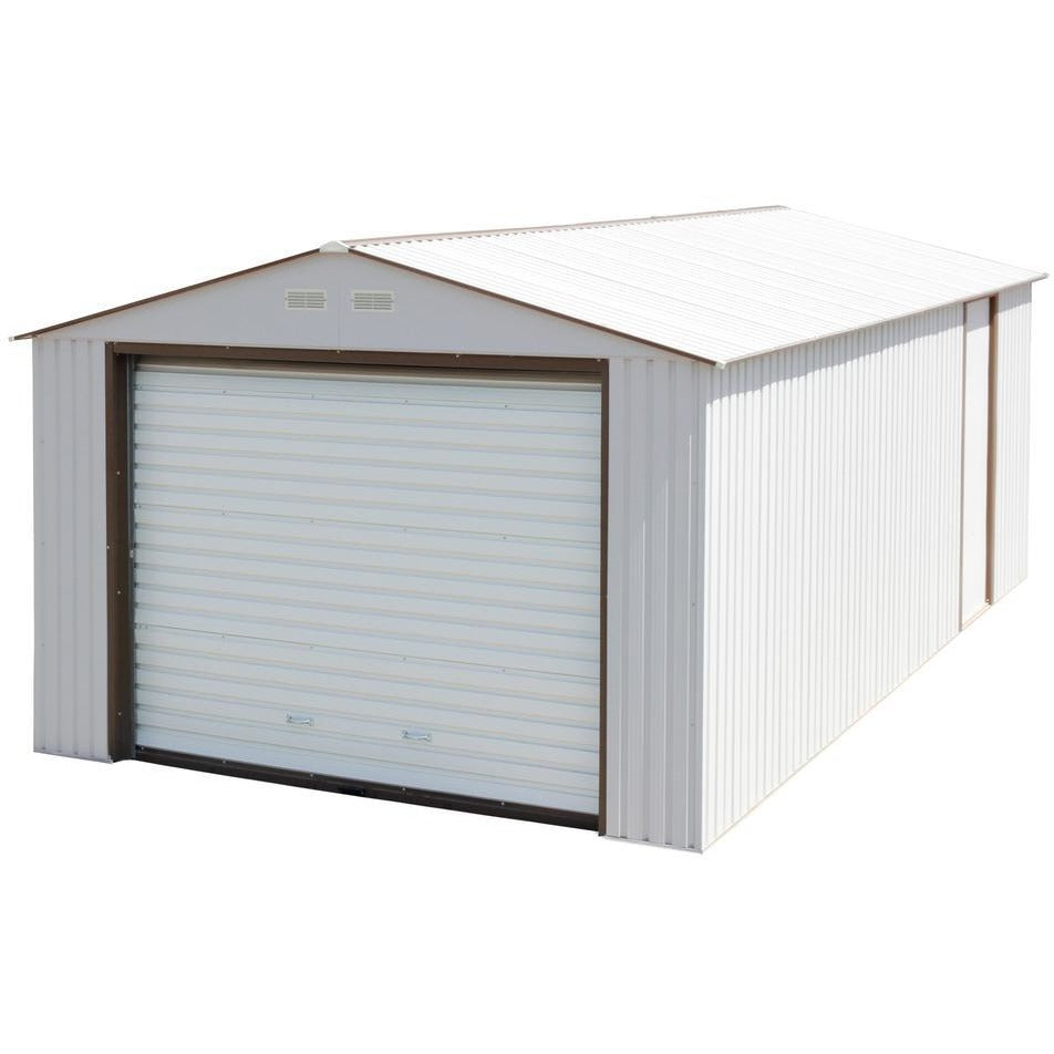 Imperial Metal Garage 12' x 26' Kit (Off White & Brown)