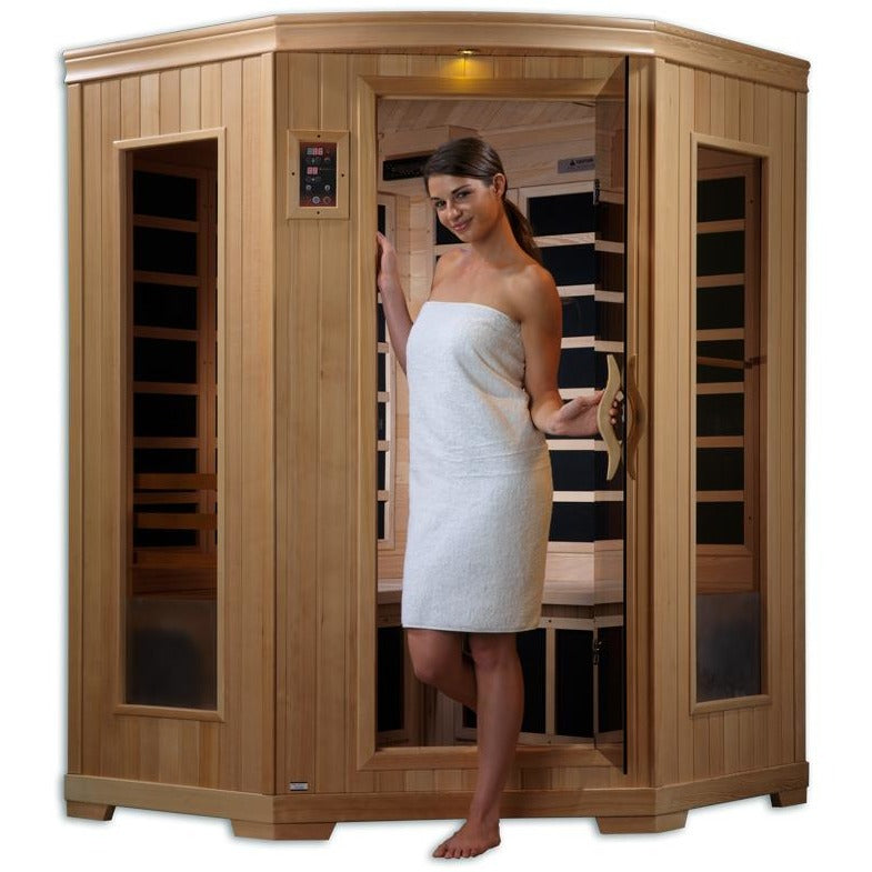 GDI-6235-02 Low EMF Far Infrared 3-Person Home Sauna