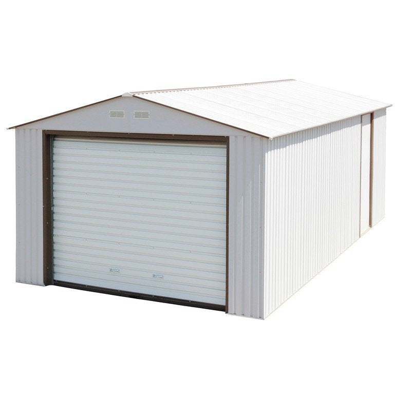 Imperial Metal Garage 12' x 32' Kit (Off White & Brown)