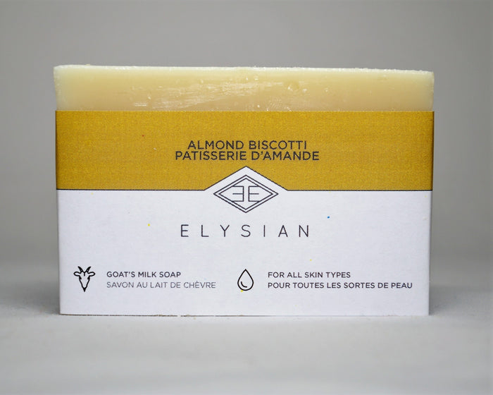 Almond Biscotti Soap Bar - Elysian Natural Soap + Skin Care