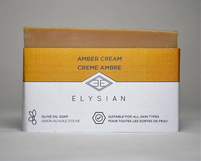 Amber Cream Soap Bar - Elysian Natural Soap + Skin Care