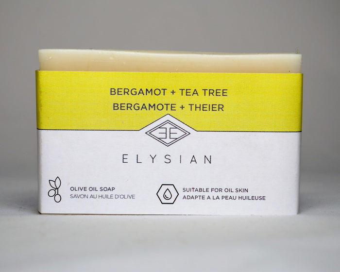 Bergamot + Tea Tree Soap Bar - Elysian Natural Soap + Skin Care