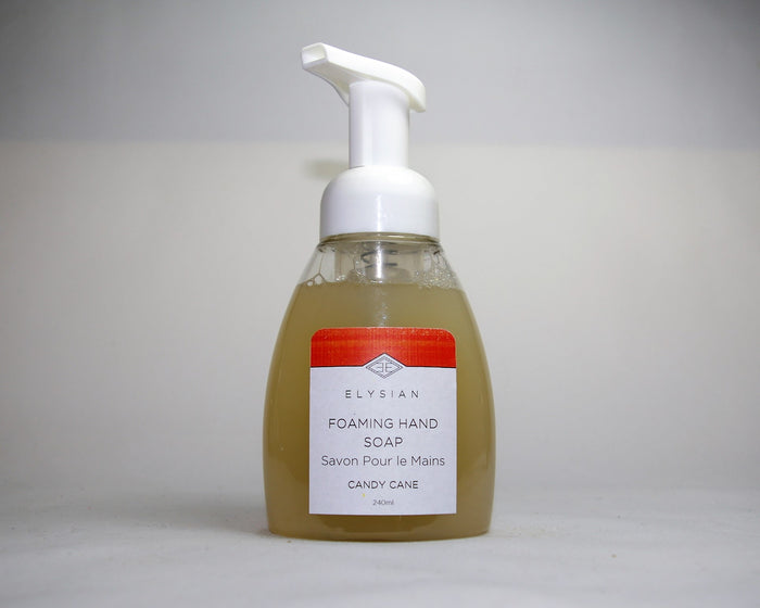 Candy Cane Foaming Hand Soap - Elysian Natural Soap + Skin Care