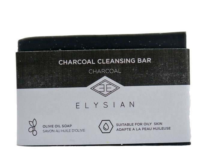 Cleansing Charcoal Soap Bar - Elysian Natural Soap + Skin Care