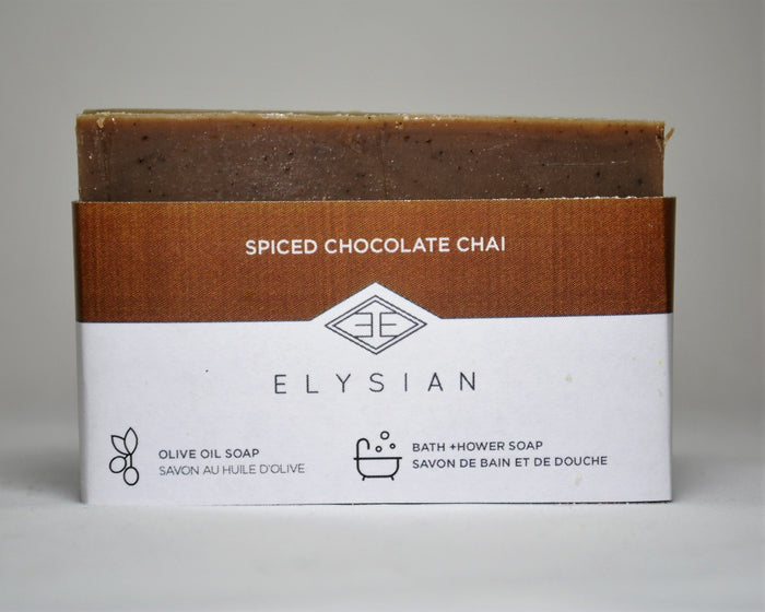 Spiced Chocolate Chai Soap Bar - Elysian Natural Soap + Skin Care