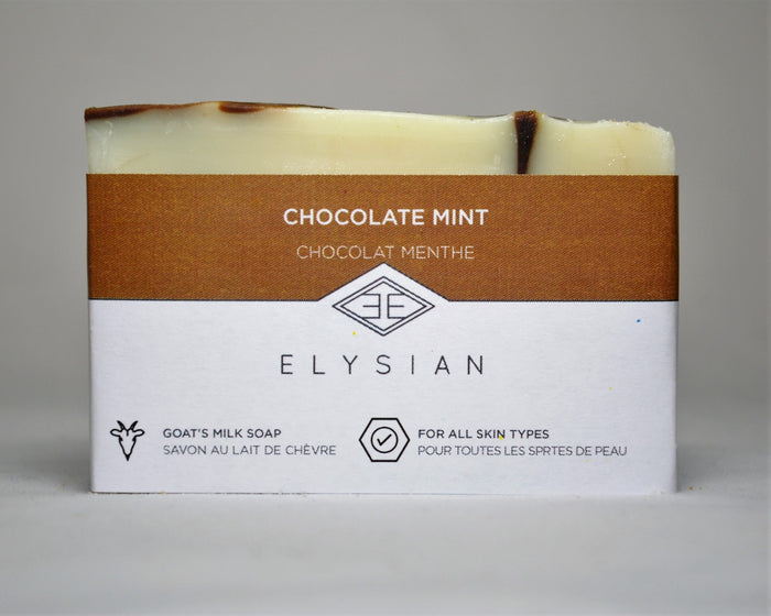 Chocolate Mint Soap Bar - Elysian Natural Soap + Skin Care