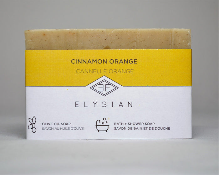 Cinnamon Orange Soap Bar - Elysian Natural Soap + Skin Care