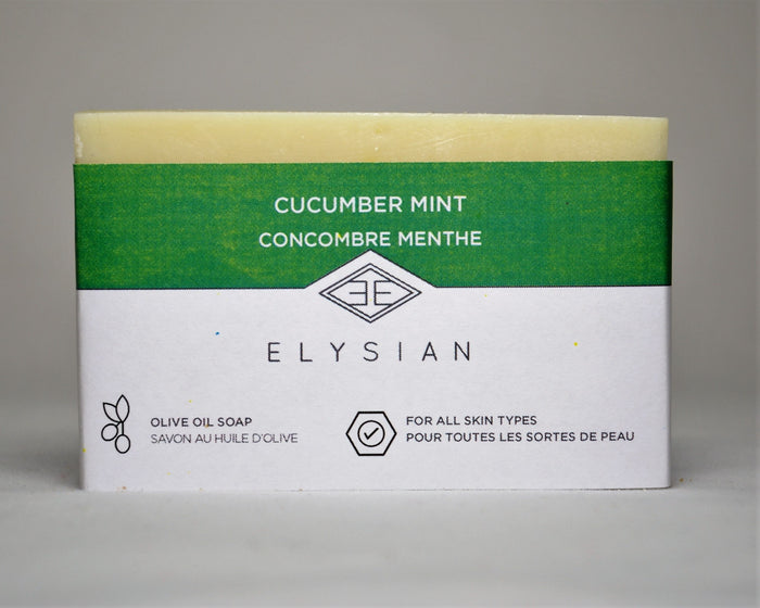 Cucumber Mint Soap Bar - Elysian Natural Soap + Skin Care