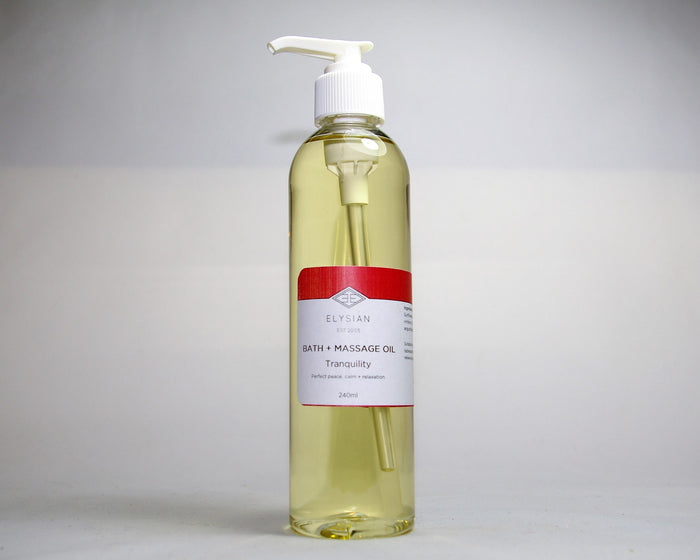 Tranquility Bath + Massage Oil - Elysian Natural Soap + Skin Care