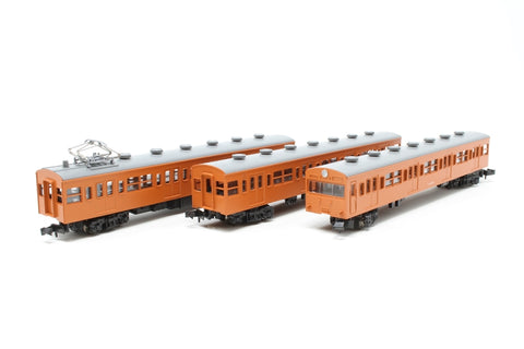 JR 103-3 Series Kokuden 2 EMU 3 Car Powered Set Orange - Pre-owned - Like new