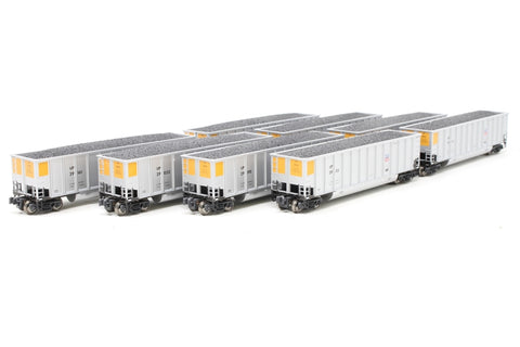 Pack of eight BethGon Coalporter wagons of the Union Pacific Railroad - Pre-owned - Like new