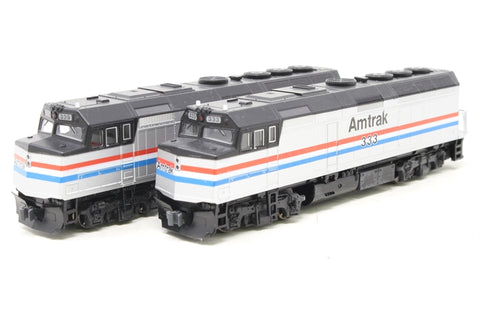 Set of two EMD F40PH Locos #333 and #339 in Amtrak Phase III Livery - Pre-owned - Like new