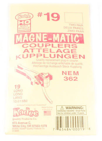 NEM362 Kadee coupling - Long (10.76mm) - Pack of four