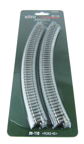 Ground Level Radius 282mm Curved Track 45 Deg (x4)