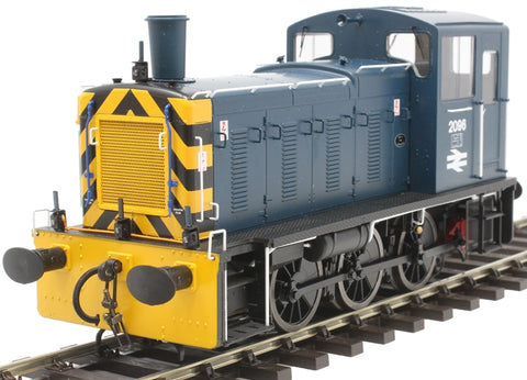 Class 03 shunter 2096 in BR blue with 'flowerpot' exhaust