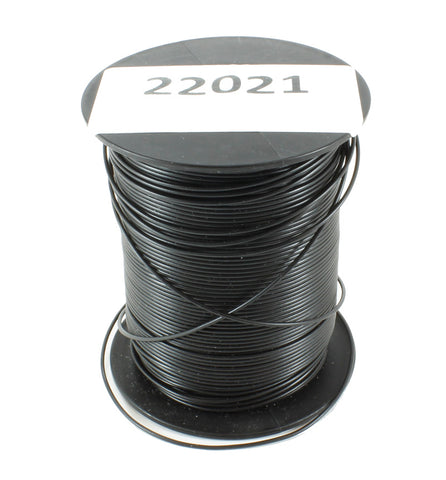 100m Drum 18 Strand Cable Black - Outside Diameter: 1.0mm