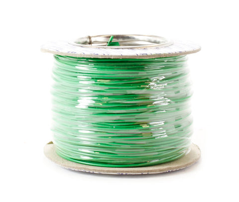 100m Drum 18 Strand Cable Green - Outside Diameter: 1.0mm