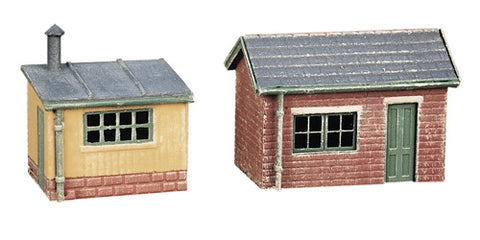 Pair of lineside huts - plastic kit