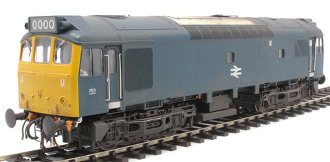 Class 25/3 in BR blue - weathered and unnumbered
