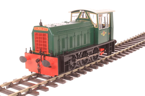 Class 05 shunter in BR green with no yellow ends