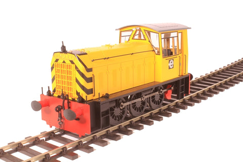 Class 05 shunter No.2 in CEGB yellow livery with wasp stripes