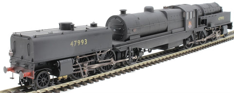 Beyer Garratt 2-6-0 0-6-2 47993 in BR black with early emblem and revolving coal bunker - heavily weathered