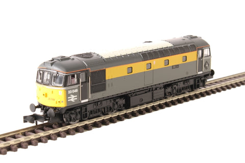 "Class 33/0 33046 ""Merlin"" in BR civil engineers 'Dutch' livery"