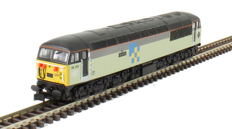 Class 56 56001 in Railfreight triple grey construction sector. DCC Fitted