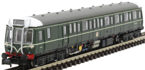 Class 121 'Bubble Car' DMU W55033 in BR green with speed whiskers