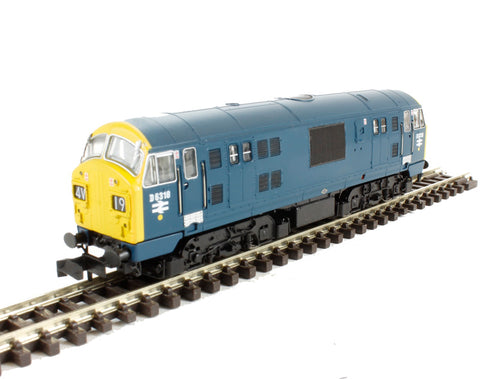 Class 22 diesel locomotive D6318 in BR blue with full yellow ends