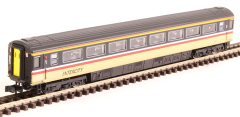 Mk3 TFO first open 41057 in Intercity Swallow livery