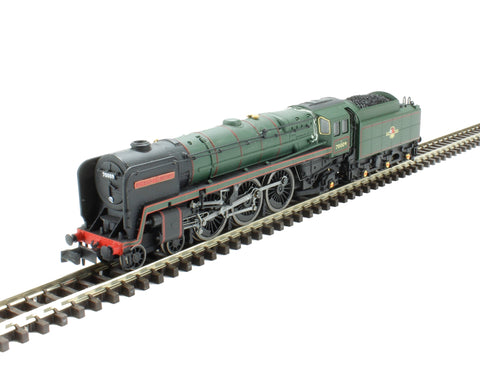 "Class 7MT Britannia 4-6-2 70009 ""Alfred the Great"" in BR green with late crest"