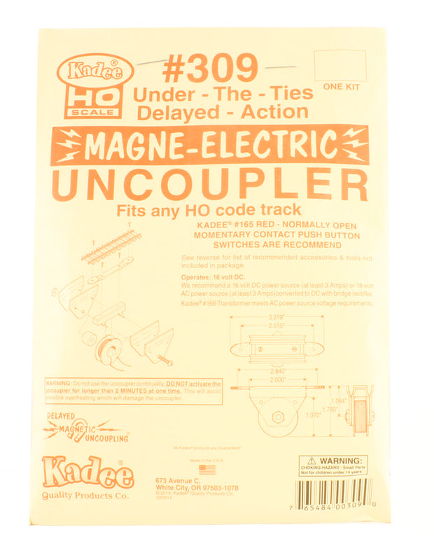 Under-the-ties Electric Uncoupler