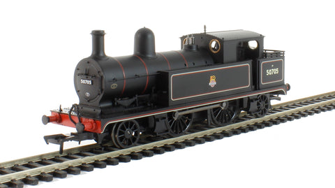 Class 5 L&YR 2-4-2T 50705 in BR black with early emblem