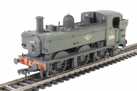 Class 64xx 0-6-0PT pannier tank 6419 in BR lined green with late crest - weathered
