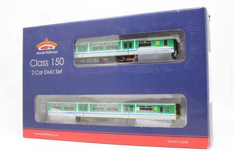 Class 150/2 2 car DMU 150202 in Regional Railways Centro blue stripe livery. - Pre-owned - DCC fitted - imperfect box