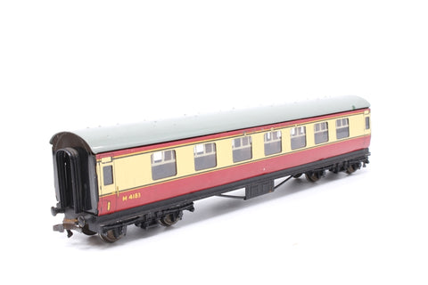 LMS Stanier Composite M4183 in BR Crimson & Cream - Pre-owned - marks on body and roof- corroded couplings - replacement box