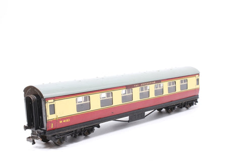LMS Stanier Composite M4183 in BR Crimson & Cream - Pre-owned - marks on body and roof-detailed with destination boards, replacement box