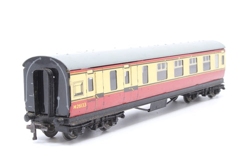 BR (MR) Stanier Brake 3rd in Crimson & Cream - Pre-owned - chipped paintwork on body and roof- replacement box