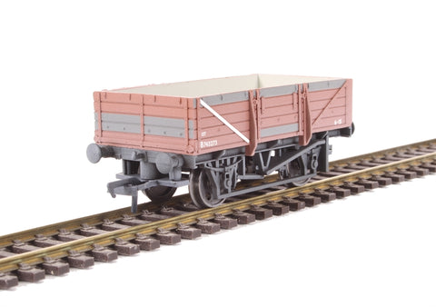 5-plank china clay wagon in BR bauxite - heavily weathered