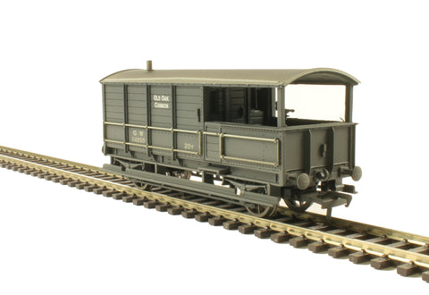 GWR 20 ton 'Toad' brake van 114950 in GWR grey - weathered