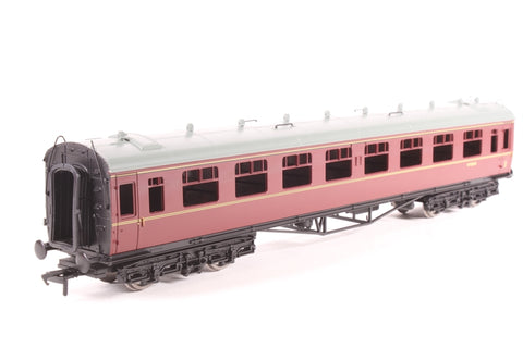 Collett 60ft 1st/2nd composite in BR maroon - Pre-owned - glazing removed - provided with Comet brass sides to convert coach to diag. E162 (not fitted)