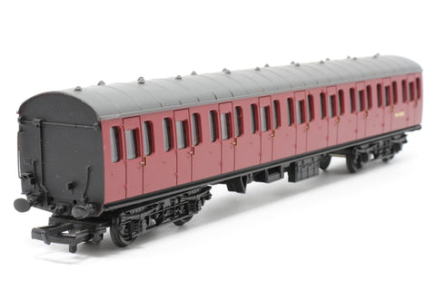 BR Standard Mk1 57ft suburban coach M46082 in crimson - Pre-owned - Imperfect box