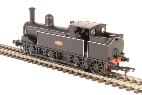 LNWR 0-6-2T Webb Coal tank 1054 in LNWR plain black - as preserved