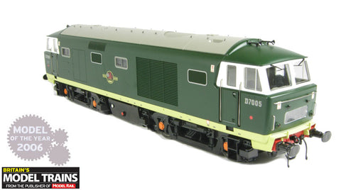 Class 35 Hymek in BR 2 tone green without yellow panel. Ltd ed of 125 pcs. O gauge