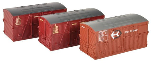Pack of three BD containers in Bauxite and Crimson