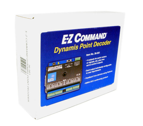 EZ Command Dynamis 4-output point decoder (similar to Hornby R8247)